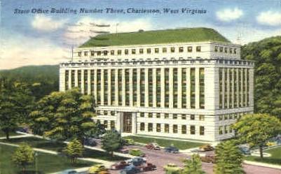 State Office Building Number Three - Charleston, West Virginia WV Postcard