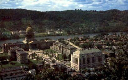 State Capitol & Morris Harvey College  - Charleston, West Virginia WV Postcard