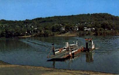 Ohio River  - Sistersville, West Virginia WV Postcard