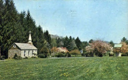 Our Lady of the Pines - Horse Shoe Run, West Virginia WV Postcard