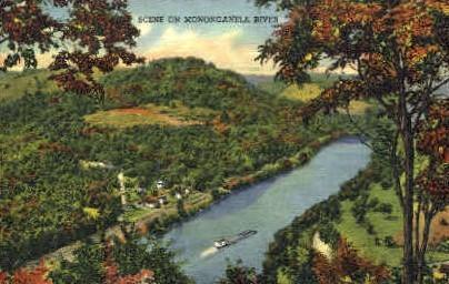 Monongahela River  - Fairmont, West Virginia WV Postcard