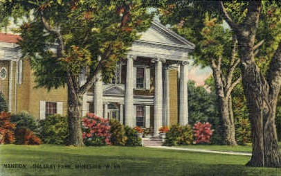 Mansion Oglebay Park  - Wheeling, West Virginia WV Postcard