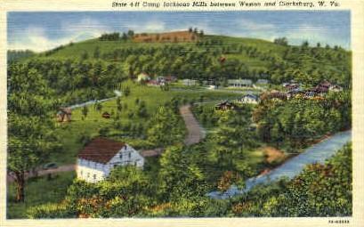 Camp Jacksons Mills  - Clarksburg, West Virginia WV Postcard