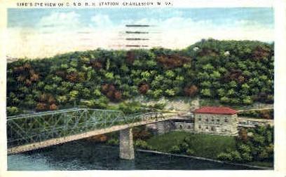 C. & O. Railroad Station  - Charleston, West Virginia WV Postcard