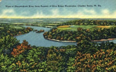 Shenandoah River   - Charles Town, West Virginia WV Postcard