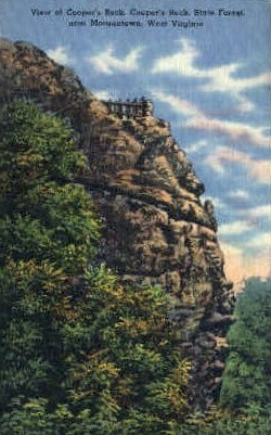 Coopers Rock  - Morgantown, West Virginia WV Postcard