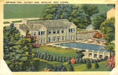 Swimming Pool, Oglebay Park  - Wheeling, West Virginia WV Postcard