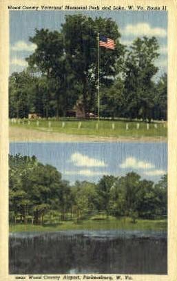 Wood County Veterans' Memorial Park - Parkersburg, West Virginia WV Postcard