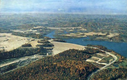 The Summerville Dam  - West Virginia WV Postcard