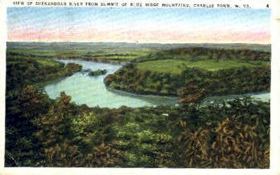 Shenandoah River  - Charles Town, West Virginia WV Postcard