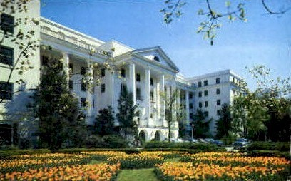 North Facade, The Greenbrier  - White Sulphur Springs, West Virginia WV Postcard