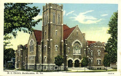 M.E. Church  - Buckhannon, West Virginia WV Postcard