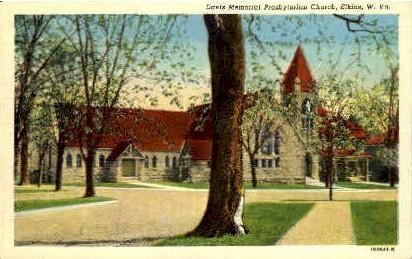 Davis Memorial Presbyterian Church  - Elkins, West Virginia WV Postcard
