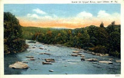 Tygart River  - Elkins, West Virginia WV Postcard