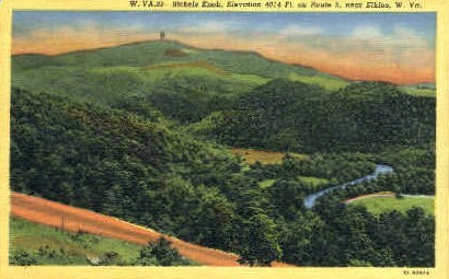 Bickels Knob  - Elkins, West Virginia WV Postcard