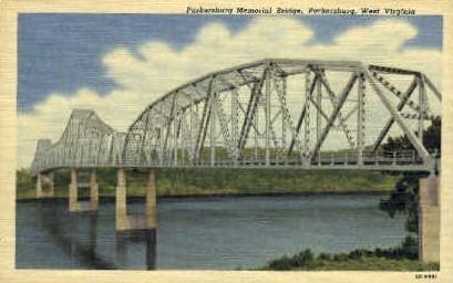 Parkersburg Memorial Bridge  - West Virginia WV Postcard