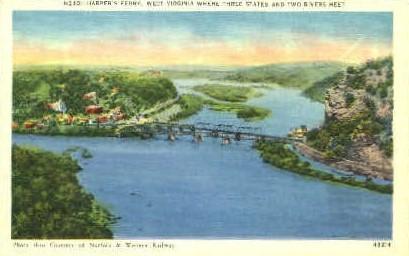 Harpers Ferry, West Virginia, WV Postcard