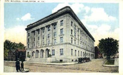 City Building  - Charleston, West Virginia WV Postcard