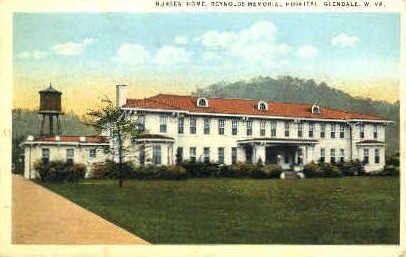Reynolds Memorial Hospital  - Glendale, West Virginia WV Postcard