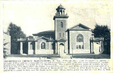 Presbyterian Church  - Martinsburg, West Virginia WV Postcard