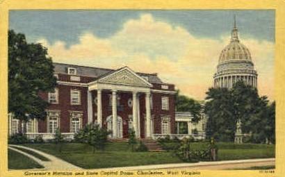 Governor's Mansion - Charleston, West Virginia WV Postcard