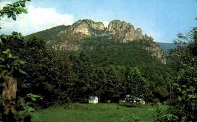 Seneca Rock  - Monongahela National Forest, West Virginia WV Postcard
