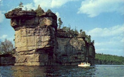 The Long Point Rock Formations  - Summerville Lake, West Virginia WV Postcard