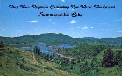 New Water Wonderland  - Summerville Lake, West Virginia WV Postcard
