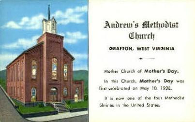 Andrew's Metodist Church  - Grafton, West Virginia WV Postcard