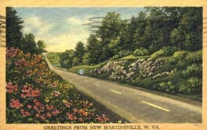 Martinsville, West Virginia, WV Postcard