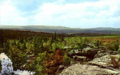 Highest Point  - Pendleton County, West Virginia WV Postcard