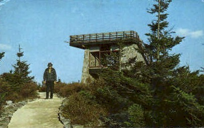 Spruce Know Observation Tower  - Pendleton County, West Virginia WV Postcard