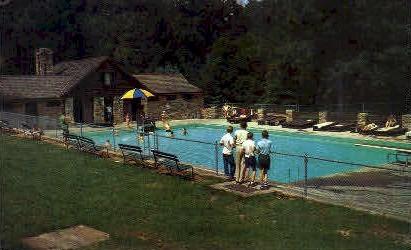 Swimming Pool  - Hardy County, West Virginia WV Postcard