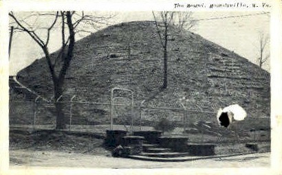 The Mound  - Moundsville, West Virginia WV Postcard