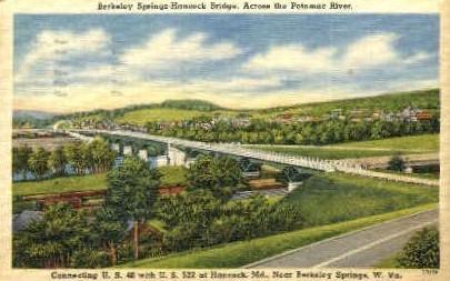 Berkeley Springs-Hancock Bridge  - West Virginia WV Postcard