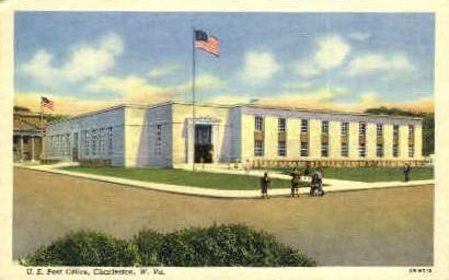 U.S. Post Office - Charleston, West Virginia WV Postcard