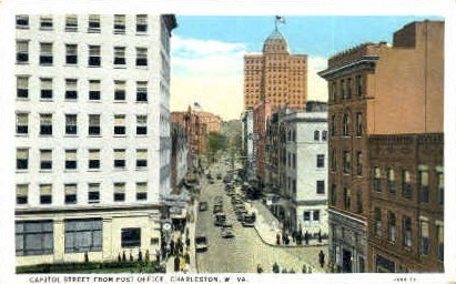 Capitol Street  - Charleston, West Virginia WV Postcard