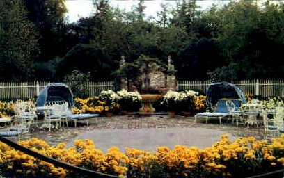 Old White Club Patio, The Greenbrier  - White Sulphur Springs, West Virginia WV Postcard