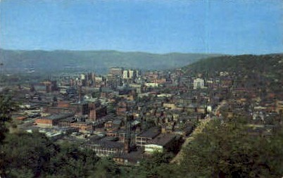 Birds Eye View  - Wheeling, West Virginia WV Postcard