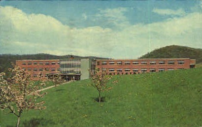 McHugh Hall, Wheeling College - West Virginia WV Postcard