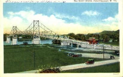 The Silver Bridge  - Point Pleasant, West Virginia WV Postcard