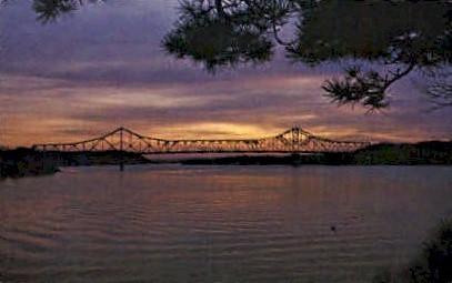 The Silver Memorial Bridge - Point Pleasant, West Virginia WV Postcard