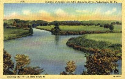 Junction of Hughes - Parkersburg, West Virginia WV Postcard
