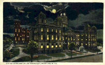 City Building & Jail - Wheeling, West Virginia WV Postcard