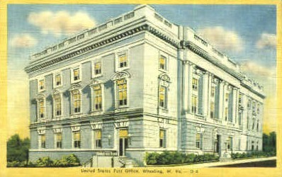 United States Post Office  - Wheeling, West Virginia WV Postcard