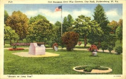 Fort Boreman, City Park - Parkersburg, West Virginia WV Postcard
