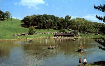Schenk Lake, Oglebay Park - Wheeling, West Virginia WV Postcard