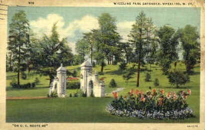 Wheeling Park Entrance  - West Virginia WV Postcard