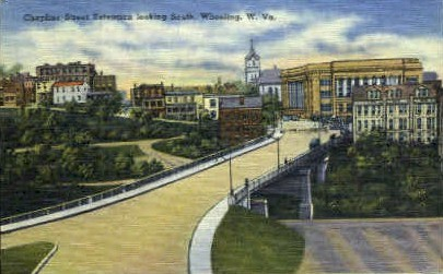 Chapline Street Extension  - Wheeling, West Virginia WV Postcard