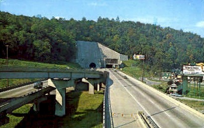 Interstate U.S. No. 70 Tunnel  - Wheeling, West Virginia WV Postcard